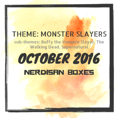 WHAT'S IN THE BOX?: Nerdisan Monster Slayers: Supernatural Unboxing October 2016