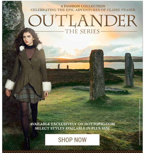Outlander Collection at Hot Topic